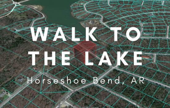 .75 Acre Double Lot, Walk to a Lake